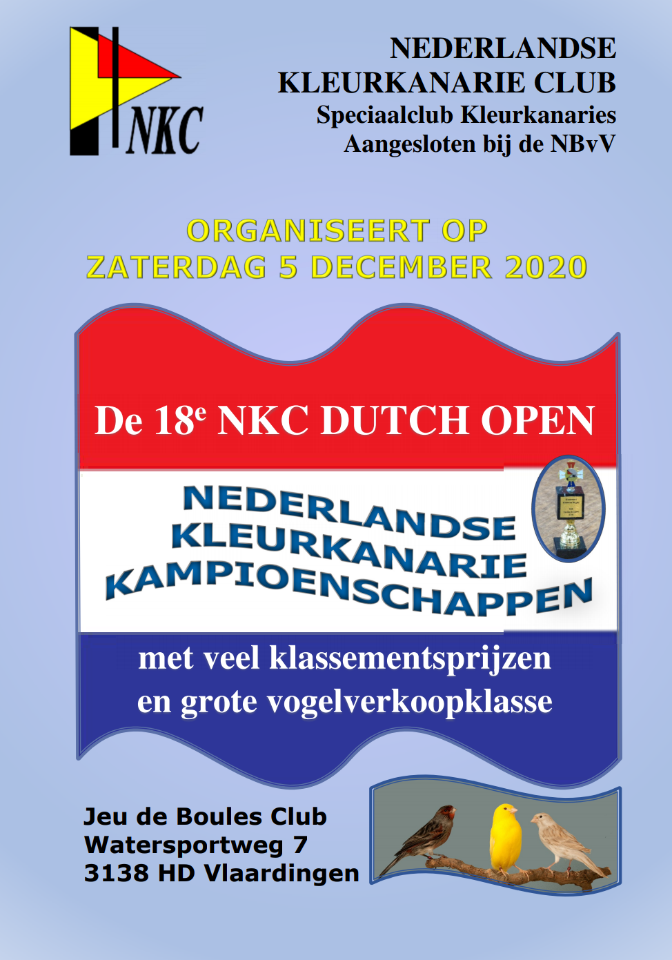 Flyer Dutch Open 2020